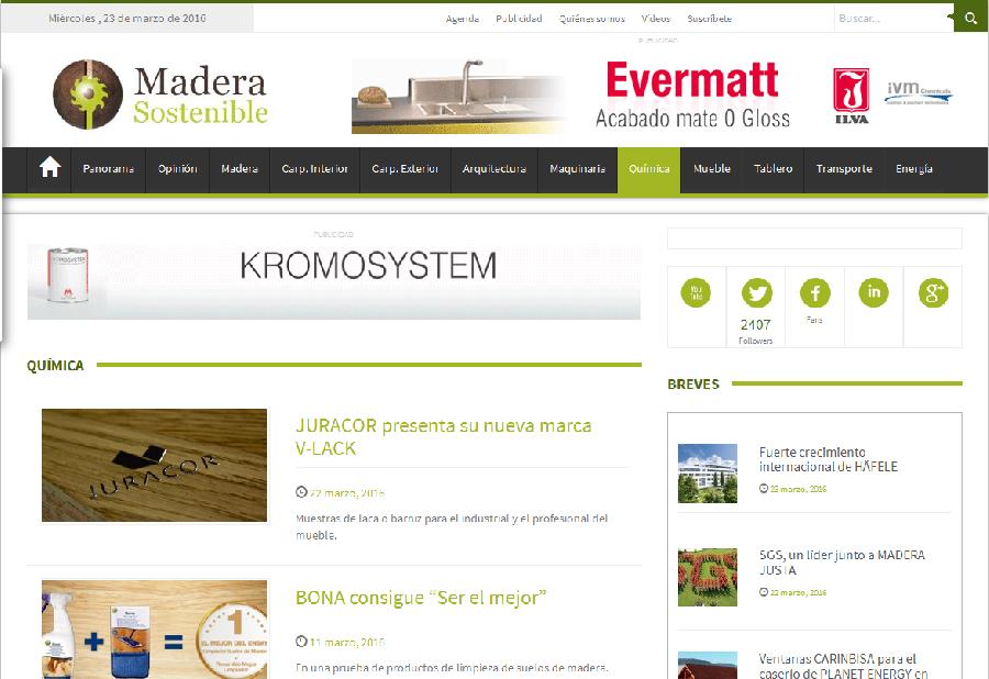 La web Madera sostenible se hace eco de la presentación de nuestra nueva marca V-Lack